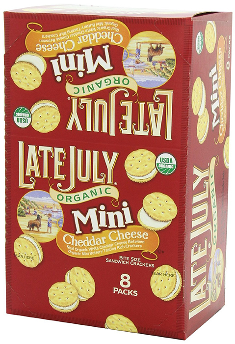 Late July Cheddar Cheese Mini Sandwich Crackers
