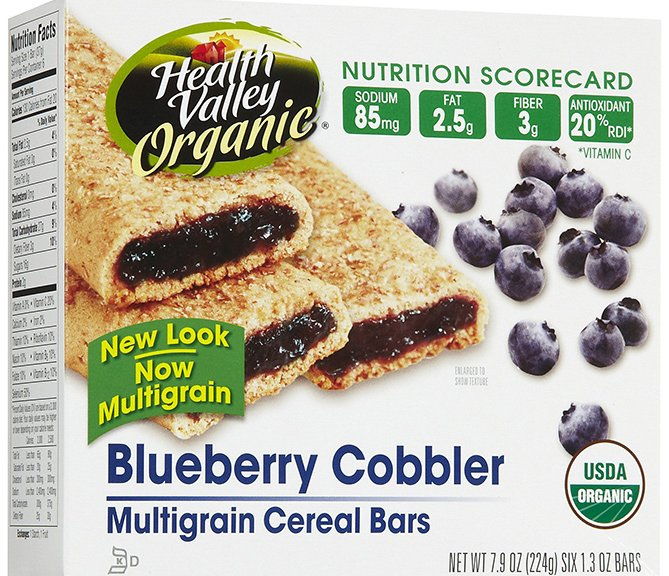 Health Valley Blueberry Cobbler Cereal Bars-1
