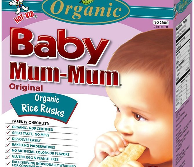 Hot-Kid Baby Mum Mum Baked Rice Biscuits for Babies
