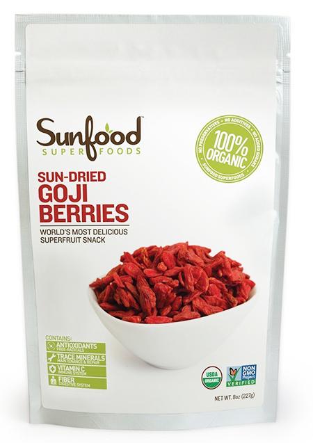 Sunfood Dried Organic Goji Berries