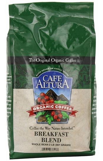 Café Altura Breakfast Blend Organic Whole Coffee Beans