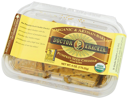 Doctor Kracker Pumpkin Seed Cheddar Crackers