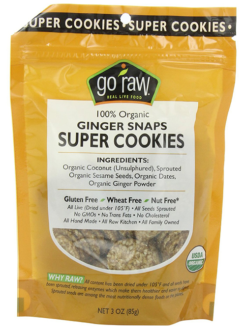 Go Raw 100 Percent Organic Ginger Snaps