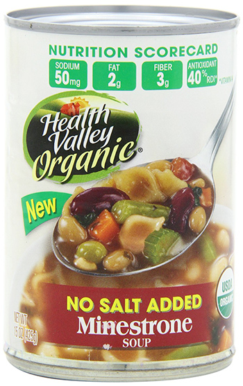 Health Valley Organic Minestrone Soup