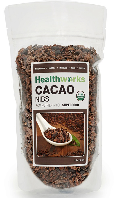 Healtworks Certified Organic Raw Cacao Nibs