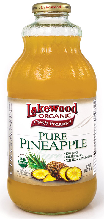 Lakewood Organic Fresh Pressed Pineapple Juice