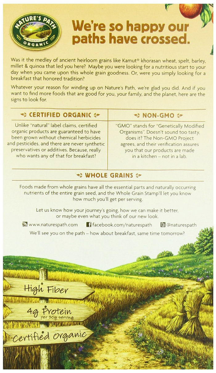 Natures Path Organic Whole Grain Heritage Flakes-1