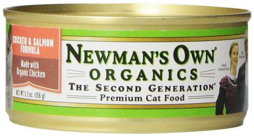 Newmans Own Organics Canned Chicken and Salmon Cat Food