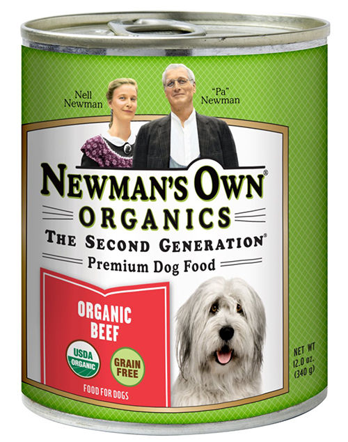 Newman's Own Organic Canned Dog Food (organic beef)