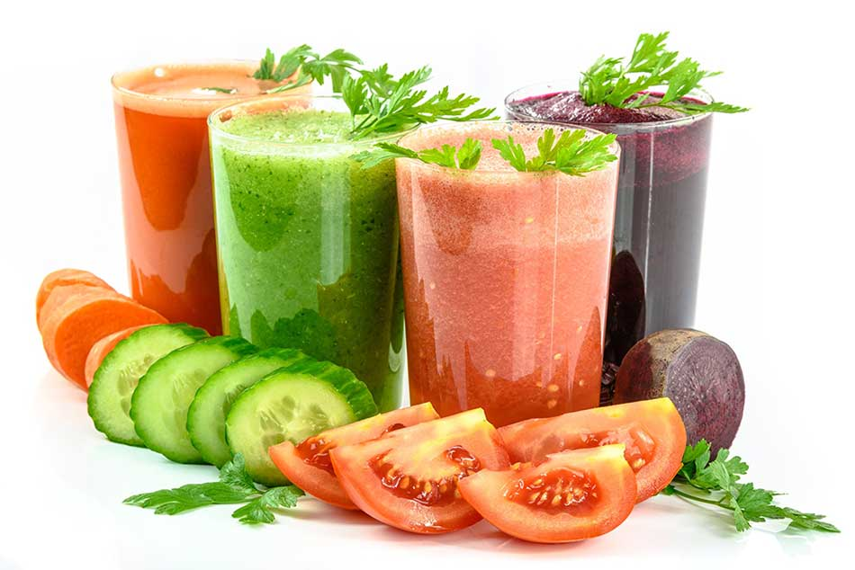 Organic veggie juices