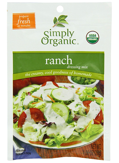 Simply Organic Ranch Salad Dressing Mix