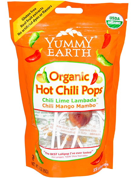 Yummy Earth Organic Hot Chili Lollipops
