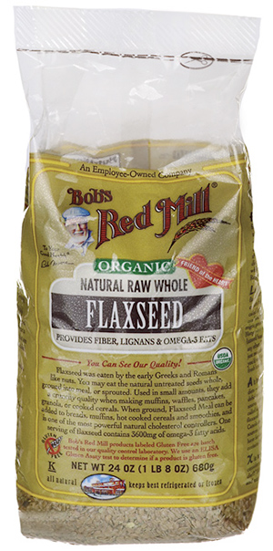 Bob's Red Mill Organic Whole Flaxseed Brown