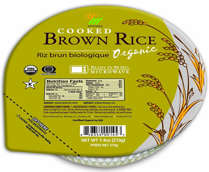 Minsley Organic Steamed Brown Rice Bowl