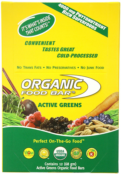 Organic Food Bar Active Greens Energy Bar