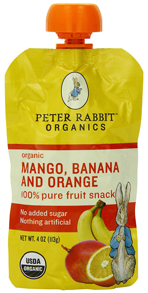 Peter Rabbit Organics Mango, Banana and Orange Fruit Snack