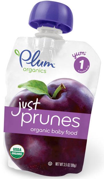Plum Organics Baby Prunes Pouch