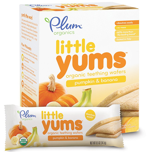 Plum Organics Little Yums Organic Teething Wafers