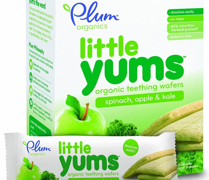Plum Organics Teething Wafers with Apple Spinach and Kale