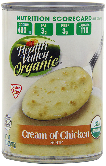 Health Valley Gluten-free cream of chicken soup