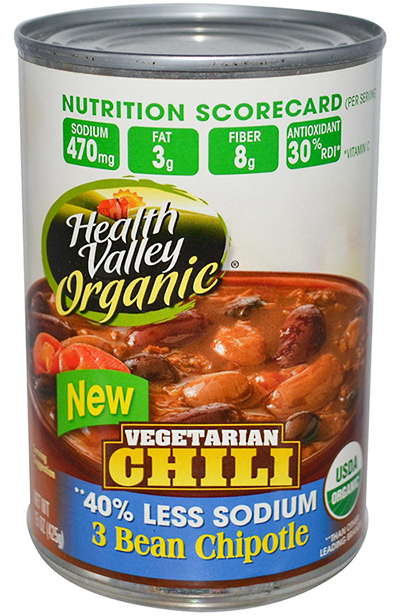 Health Valley Vegetarian Chili Three bean Chipotle