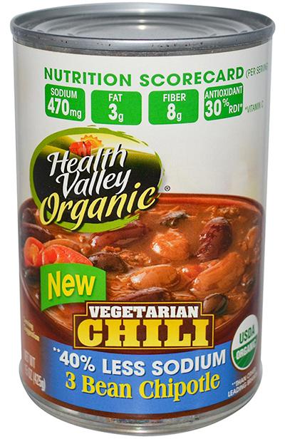 Health Valley Vegetarian Chili Three bean Chipotle