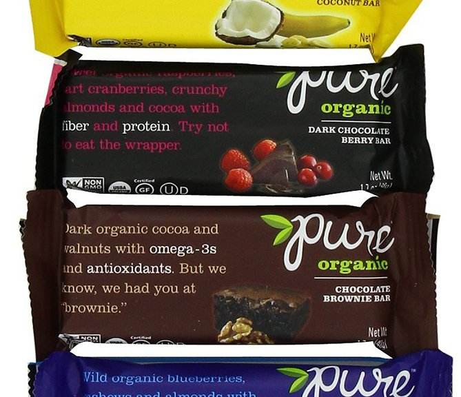 Pure Organic Fruit and Nut Nutritious Bars