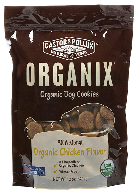 Castor and Pollux Dog Cookies With Chicken Flavor