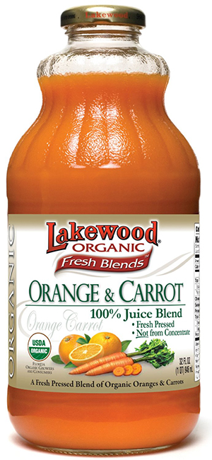 Lakewood Fresh Blends Organic Orange Carrot Juice