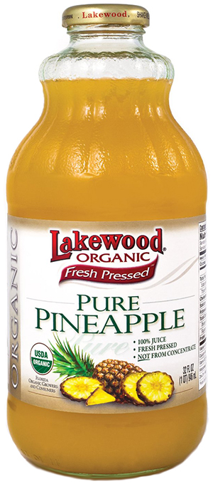 Lakewood Fresh Pressed Organic Pineapple Juice