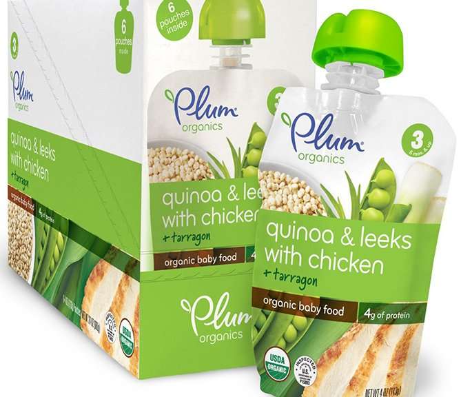 Plum Organics Baby Food With Leeks And Chicken