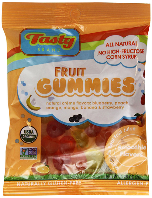 Tasty Brand Organic Gummy Fruit Snack