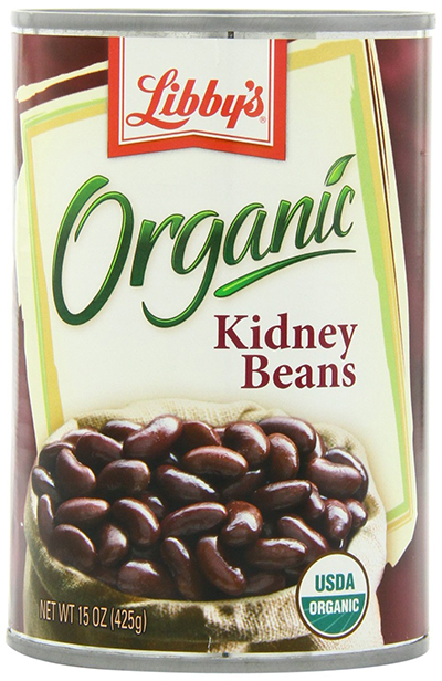 Libby's Canned Organic Dark Red Kidney Beans