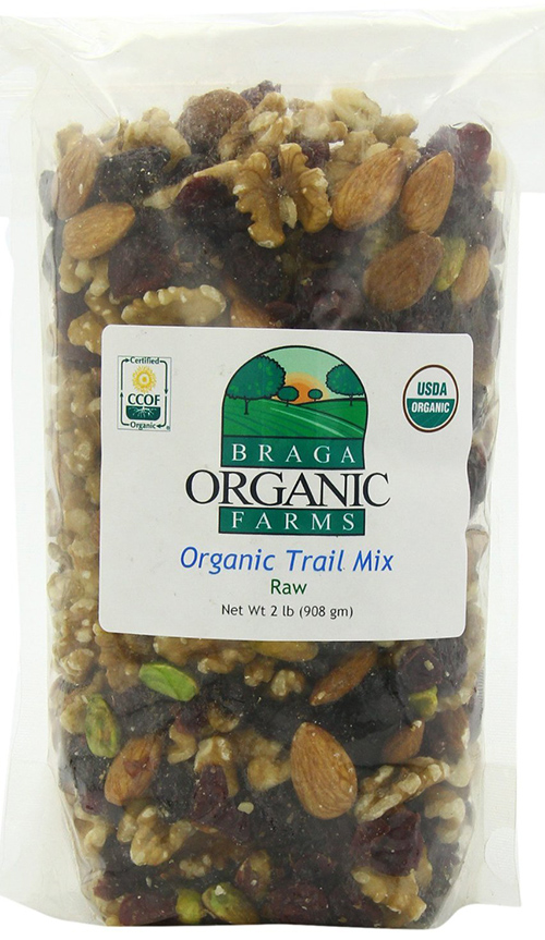 Braga Organic Farms Premium Raw Trail Mix Snack