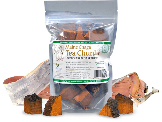 Maine Chaga Tea Chunks