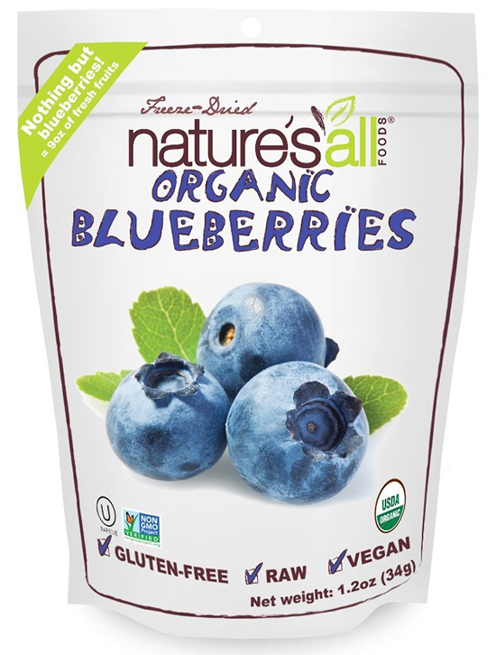 Nature's All Foods Dried Organic Blueberries