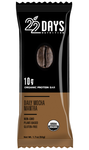 22 Days Daily Mocha Mantra Organic Protein Bar-featured