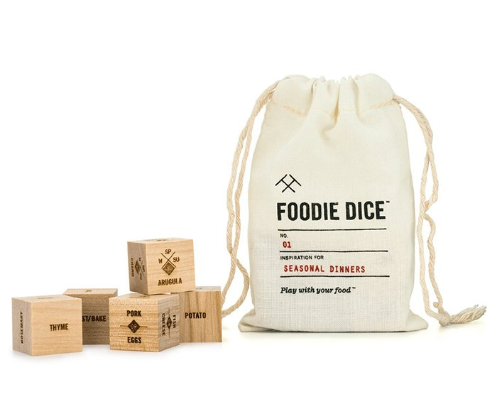Foodie dice set for inspirational dinners