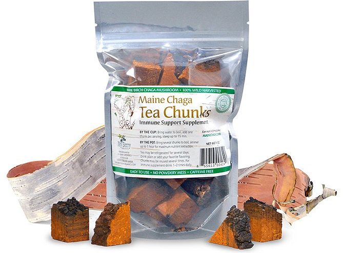 Maine Chaga Organic Chaga Tea Chunks