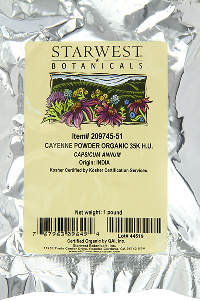 Starwest Botanicals Organic Ground Cayenne Pepper