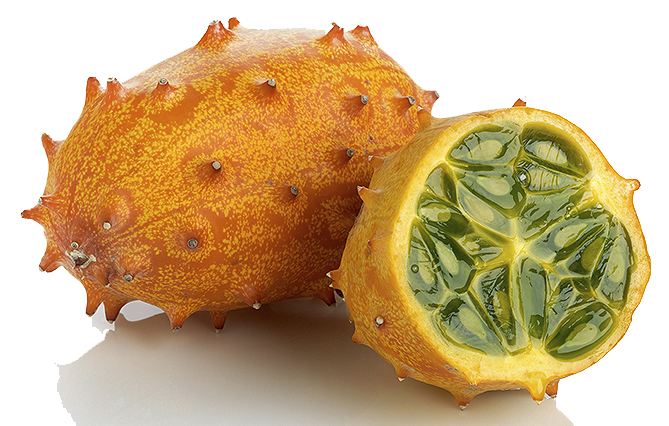 Weird fruit - Horned melon - Horned cucumber - Kiwano