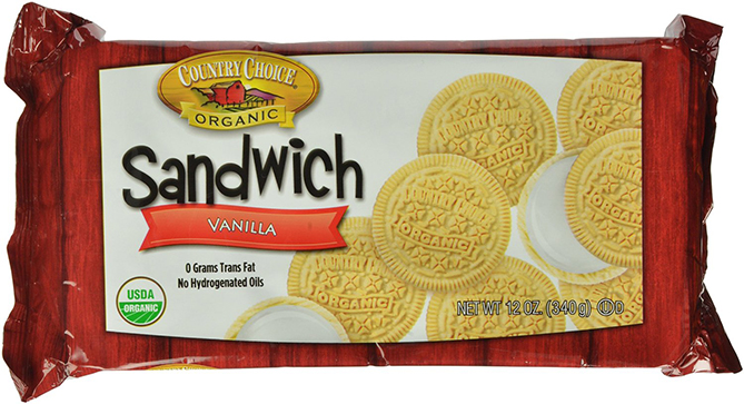 Country Choice Organic Sandwich Cookies with Vanilla Taste