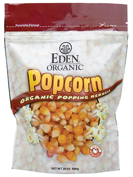 Eden Organic Wholegrain Yellow Popcorn