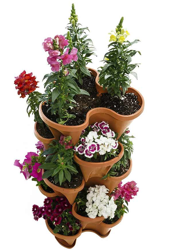 Houseables 5 Tier Stackable Planter