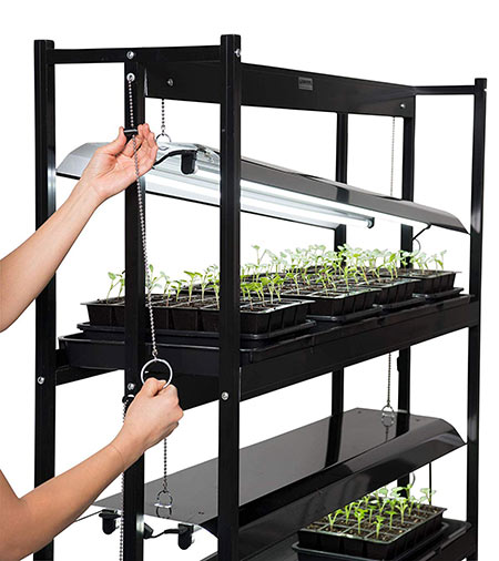 LED Grow light stand indoor hydroponic garden kit