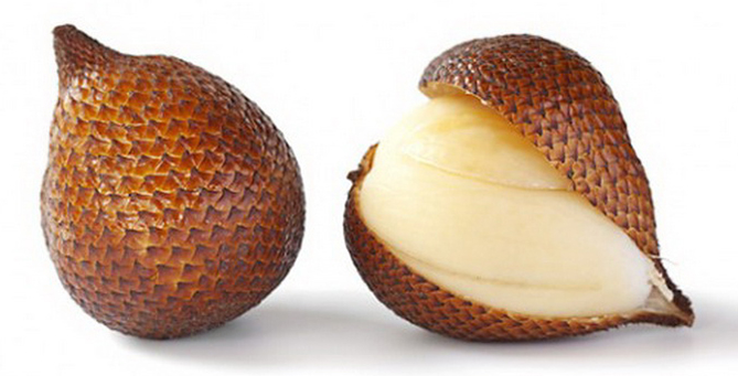 Weird fruit Salak a.k.a. snake fruit