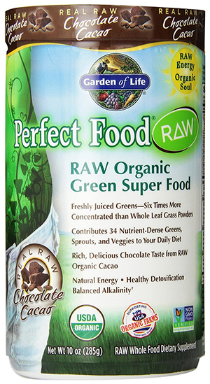 Organic Chocolate Powder with Green Super Foods by Garden of Life