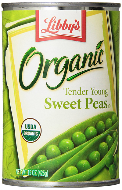 Libby's Canned Organic Sweet Peas