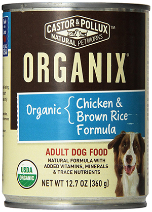 Castor & Pollux Organic Adult Dog Food with Chicken and Brown Rice