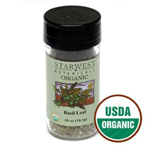 Organic Basil Leaves by Starwest Botanicals